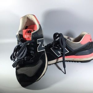 New Balance Pink Gray and Black Women's Sneakers